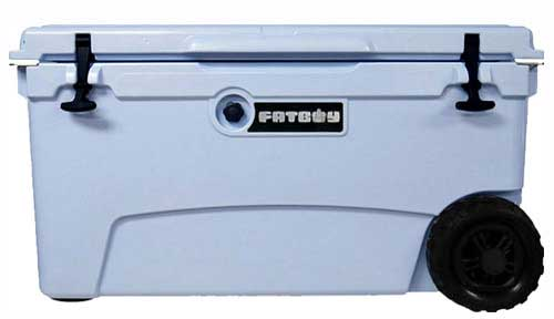 Fatboy 70QT Rotomolded Wheeled Cooler Light Blue
