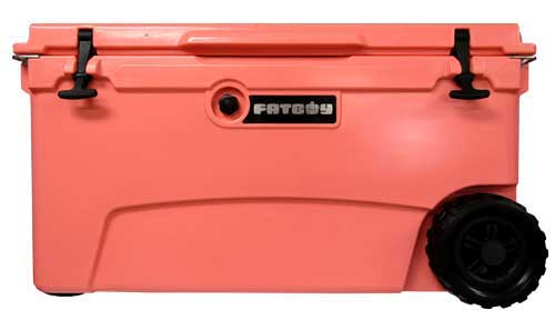 Fatboy 70QT Rotomolded Wheeled Cooler Coral