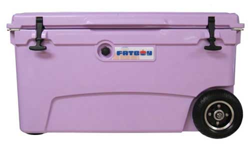 Fatboy 70QT Rotomolded Wheeled Cooler Lavender Purple