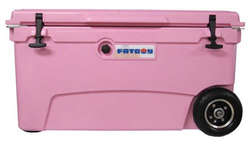 Fatboy 70QT Rotomolded Wheeled Cooler Pink