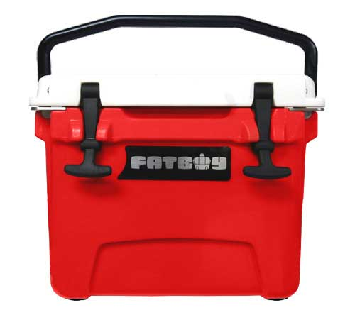 Fatboy 10QT Rotomolded Cooler Red White