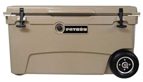 Fatboy 70QT Rotomolded Wheeled Cooler Sand Tan