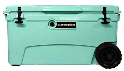Fatboy 70QT Rotomolded Wheeled Cooler Seafoam Green