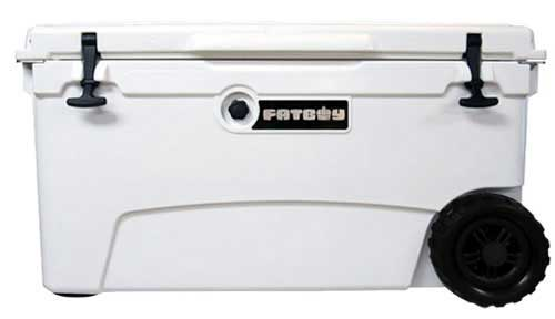 Fatboy 70QT Rotomolded Wheeled Cooler White